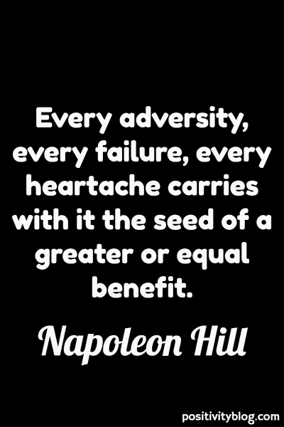 Stay Strong Quote by Napoleon Hill