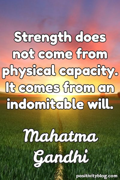 Stay Strong Quotes by Mahatma Gandhi