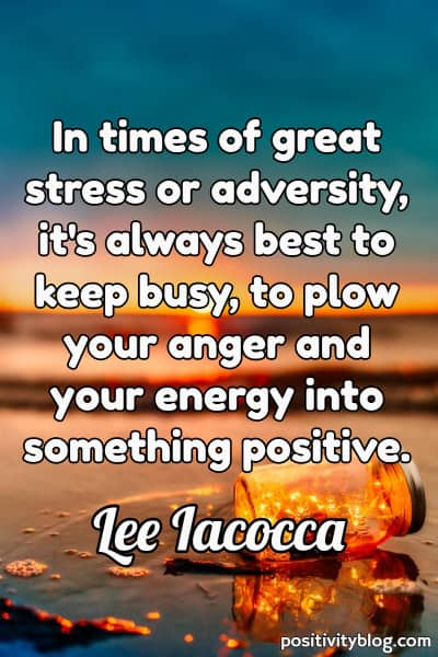 Quote on Stress by Lee Iacocca