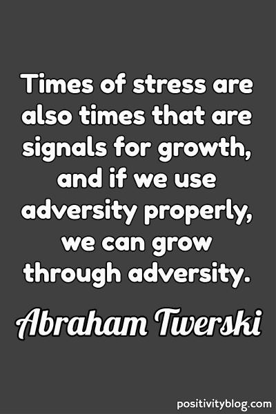 Quote on Stress by Abraham Twerski