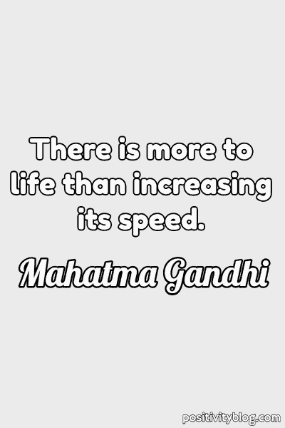Quote on Stress by Mahatma Gandhi