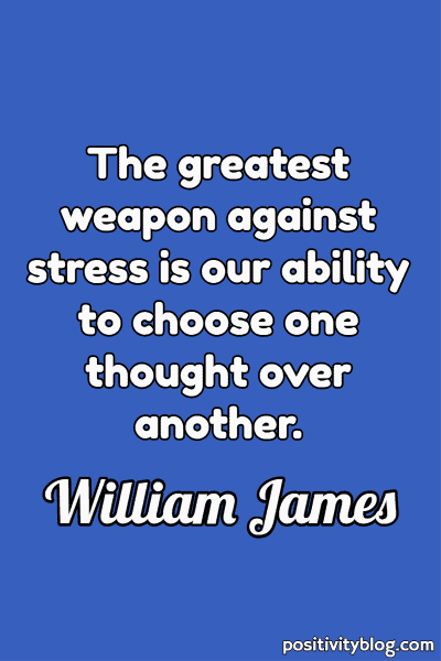 Quote on Stress by William James