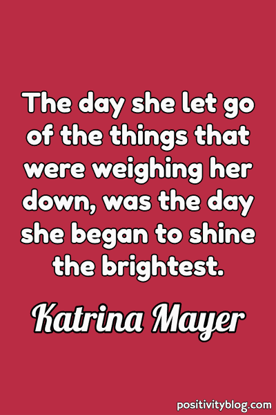 Quote on Stress by Katrina Mayer