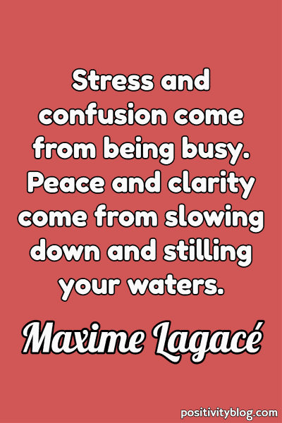 Quote on Stress by Maxime Lagace