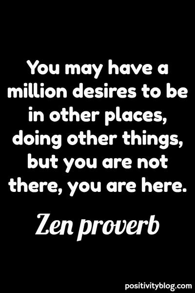 Zen Proverb on Stress