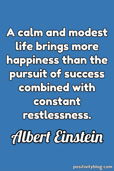 Quote on Stress by Albert Einstein