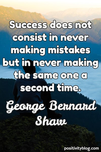 Success Quote by George Bernard Shaw