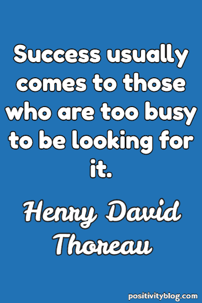 Success Quote by Henry David Thoreau