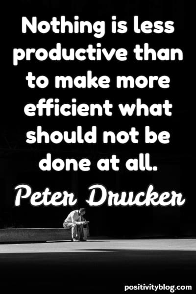 Success Quote by Peter Drucker