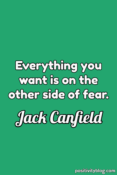 Word of Encouragement by Jack Canfield