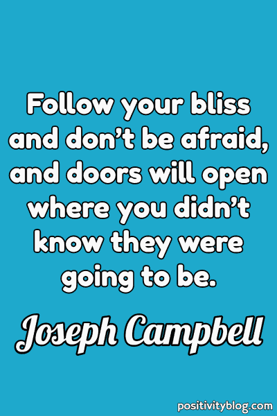 Word of Encouragement by Joseph Campbell