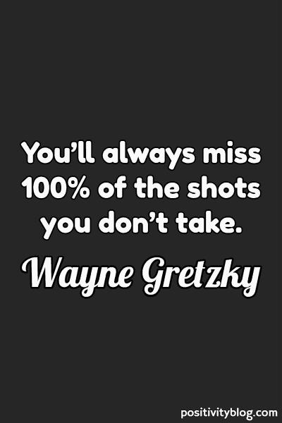 Word of Encouragement by Wayne Gretzky