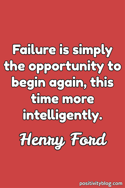 Word of Encouragement by Henry Ford