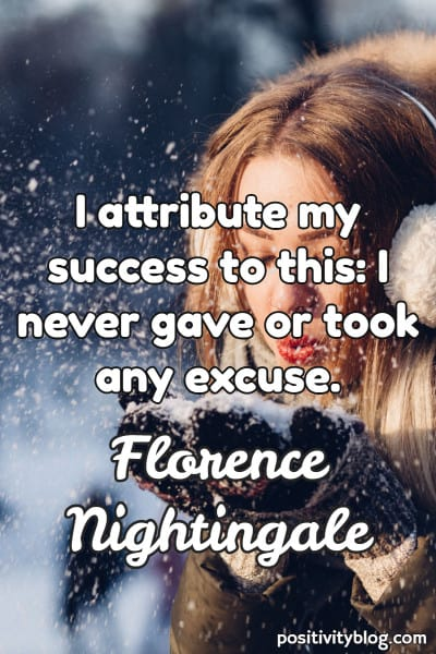 Word of Encouragement by Florence Nightingale