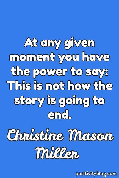 Word of Encouragement by Christine Mason Miller