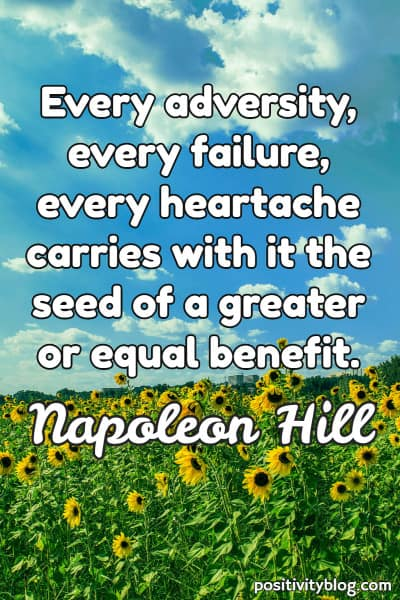 Word of Encouragement by Napoleon Hill