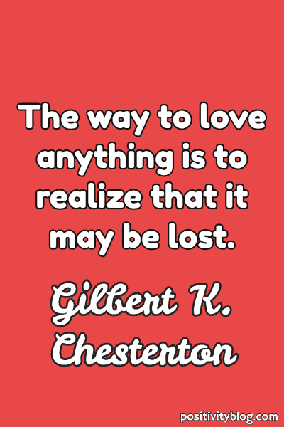 Word of Encouragement by Gilbert K. Chesterton