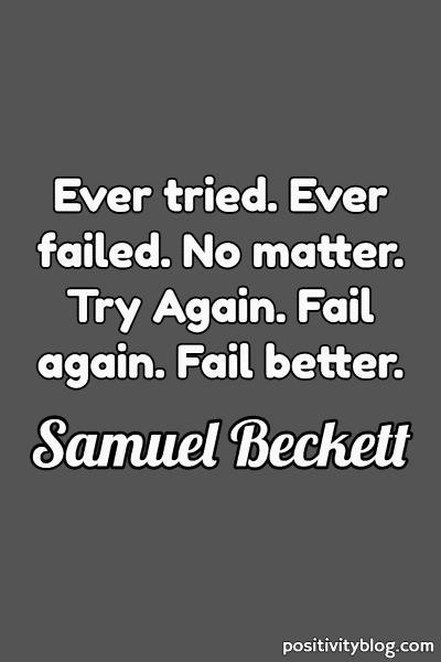 Word of Encouragement by Samuel Beckett