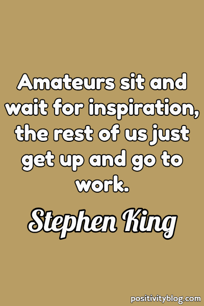 Word of Encouragement by Stephen King