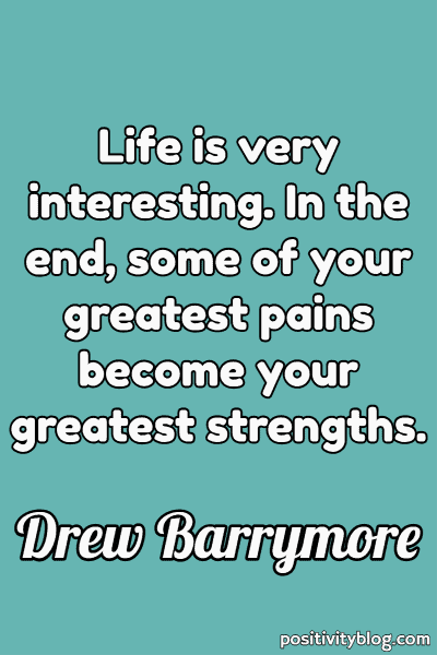 Word of Encouragement by Drew Barrymore