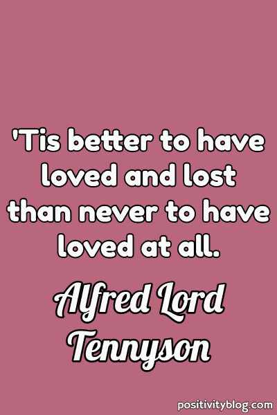 Word of Encouragement by Alfred Lord Tennyson