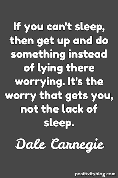 Worry Quote by Dale Carnegie
