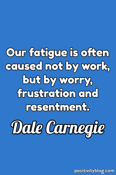 Worry Quotes by Dale Carnegie